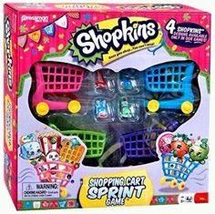 NEW SHOPKINS SHOPPING CART SPRINT BOARD GAME TARGET EXCLUSIVE  | eBay