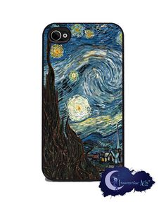 Starry Night by Vincent Van Gogh - Art iPhone 4 & Silicone Rubber Cover, Case Iphone 4, Iphone Cases, Matching Phone Cases, Van Gogh Art, Vincent Van Gogh, Ipod Touch, Silicone Rubber, Night, Gauges