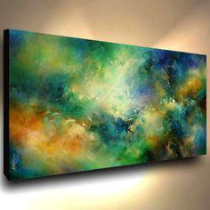 abstract art PAINTING MODERN Contemporary DECOR VIDIO Mix Lang cert. original   eBay