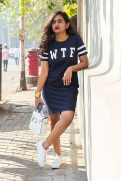 Love T-shirt dress? This one is from Bewakoof.com 😊 Visit- wastedbyfashion.com for more 😃