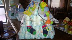 Nappy cake for stork party by @heather8532