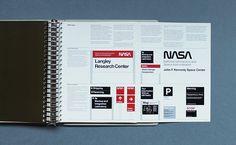 NASA Graphic Standards  Free download: http://www.nasa.gov/sites/default/files/atoms/files/nasa_graphics_manual_nhb_1430-2_jan_1976.pdf?linkId=16902171