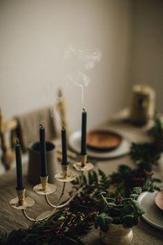 winter table decor