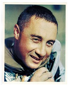 Lot 236- Gus Grissom Authentic Signed Photograph. On the phone with the President in this image, this authentic signed photo measures 8'' x 10''. Comes with full LOA from PSA/DNA. Provenance: Estate of Lois De Neale former secretary to Director of NASA.