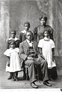 THE HIGDON FAMILY ] THE BLACK VICTORIANS | 1898. [From The Joseph C. Pennell Collection, University of Kansas]