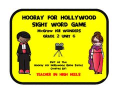 This is a sight word game for Grade 2 Unit 6 of the McGraw-Hill Wonders reading series. Just print, laminate and cut out the card game. Great for centers or intervention blocks. All six units are available in the same format. Also available in this format, all levels of dolch sight words.