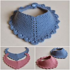 Crochet Baby Dress Free Pattern, Crochet Baby Bibs, Crochet Owl Hat, Bib Pattern, Crochet Collar, Crochet Slippers, Knit Crochet, Baby Bibs Patterns, Baby Knitting Patterns