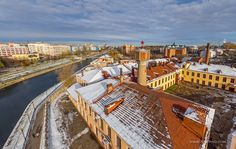 Factory of paper products in Ivanovo, Russia.  airpano.com