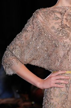 Ellie Saab Fall Winter 2012-2013. Can we please appreciate the beading and detail on this gown?