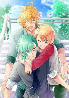 Uta no prince sama. Ai Mikaze and Sho Kurusu and Natsuki Shinomiya