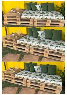 Pallet Garden Furniture, Diy Furniture Projects, Furniture Design, Furniture Storage, Easy Projects, Pallets Garden, Furniture Makeover, Repurposed Furniture, Furniture Plans
