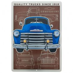Since 1918 Silverado 3100 Chevrolet Chevy Trucks Tin Metal Sign Truck