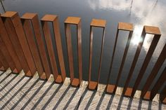 Singular component balustrade, top could be used as a shelf for a drink:
