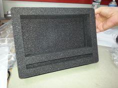 Ein individueller Schaumstoffeinsatz, der mit unserem bwh-Koffer-Schaumstoff-Konfigurator erstellt worden ist.
