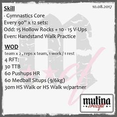 Handstand-related paired WOD