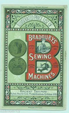 Antique-Trade-Advertising-Card-Leaflet-Price-List-Bradbury-Sewing-Machines