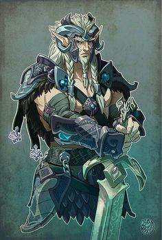 """ptginc: """" Cha'tume - Wood Elf - Barbarian Hrusgar forest - to the east lies the sprawling sea and to the west, the wall built between his people's land and the humans…few travel that far West and fewer care what lies beyond as there is little reason..."""