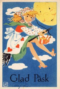 in scandinavia they have something called an easter witch and UM this is cute as hell basically —r. Vintage Easter, Vintage Holiday, Selling Photos, About Easter, Easter Celebration, Easter Holidays, Children's Book Illustration, My Ride, Bruges
