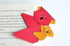 origami animaux en marque-page, comment faire un koala facile et son petit