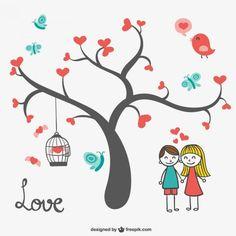 Padrão da árvore do coração