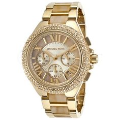 Michael Kors Watches Collection 2018 / 2019 : Michael Kors Ladies Chronograph Camille Gold Watch ** Check this awesome . - Watches Topia - Watches: Best Lists, Trends & the Latest Styles Big Watches, Stylish Watches, Luxury Watches, Cool Watches, Watches For Men, Cheap Watches, Wrist Watches, Michael Kors Watch, Michael Kors Jet Set