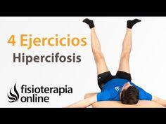 4 ejercicios para la cifosis dorsal y la postura corporal. - YouTube
