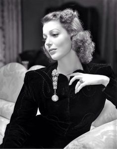 """Loretta Young by George Hurrell, publicity still for """"Bedtime Story"""", 1941"""