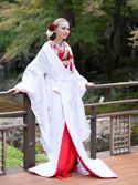 白無垢2056「桃山老松菊桜文赤ふき」/レンタル和装