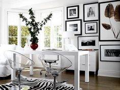 como decorar con blanco y negro una sala - Google Search