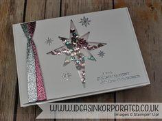 Stampin' Up! star of light shaker card flat                              …