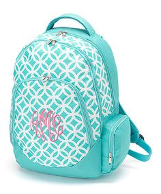 Oh this is a CUTE one! Just ordered for Kate! Aqua Sadie Monogram Backpack - Only 8 left! Hurry! $35