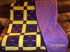 crown royal quilt! Husband loves crown and always insists on saving those little bags, here's a project to use them