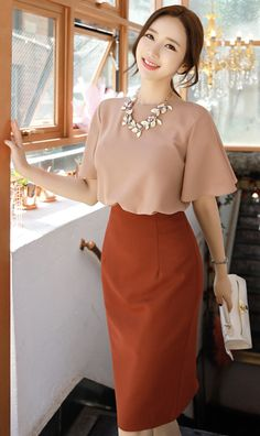 Look Elegant and Casual with These 5 Unique Styles for Your Work Attire Pencil Skirt Outfits, Dress Outfits, Rock Outfits, Emo Outfits, White Outfits, Look Fashion, Korean Fashion, Retro Fashion, Modest Fashion