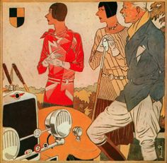 Illustration by Ernst Dryden, 1928, Jane Regny (Parisian fashion house), 11, rue de la Boëtie, Paris.
