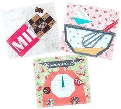 Super Penguin Quilt-Along - October Block Print - Let's Bake Paper Piecing Patterns, Quilt Block Patterns, Pattern Blocks, Quilt Blocks, Patchwork Patterns, Quilting Projects, Sewing Projects, Sewing Ideas, Quilting Ideas