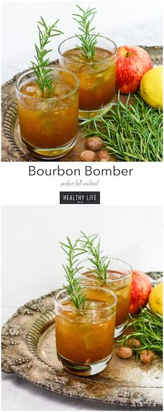 Bourbon Bomber Cocktail is the perfect drink to toast the fall season | ahealthylifeforme.com
