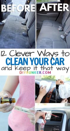 I'm obsessed with the before and after of this car upholstery cleaning hack! Learn little hacks that'll keep the interior and exterior of your car looking brand spankin' new year round! Diy Home Cleaning, Car Cleaning Hacks, Deep Cleaning, Cleaning Car Upholstery, Car Smell, Clean Your Car, Diy Car, Car Detailing, Diy Organization