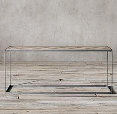 Reclaimed Russian Oak Parquet Console Table