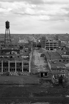 The remains of the soon to be demolished Packard Motor Car Plant in Detroit, MI.