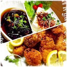 ✦鳥の唐揚げ(•ө•)♡ ✦ナスの煮浸し ✦お豆腐 - 52件のもぐもぐ - 晩ごはん(*^^)v by kabotaman3