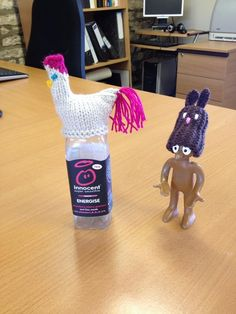 """@VCSNK """"Who came first - the chicken or the rabbit? More fun hats knitted by our fab volunteers for the #bigknit"""""""