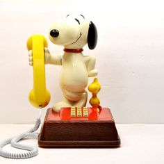 Snoopy And Woodstock Phone, $156, now featured on Fab. I had one of these in my room,