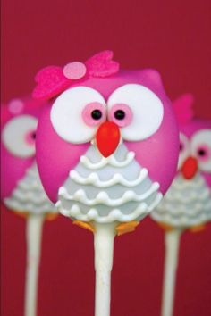 "Owl Cake Pops For everything you'll ever need to display your own "" super cool creations"".... visit http://www.supercoolcreations.com"