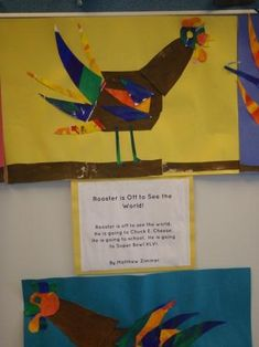 Craft for Book, Rooster is Off to See the World by Eric Carle