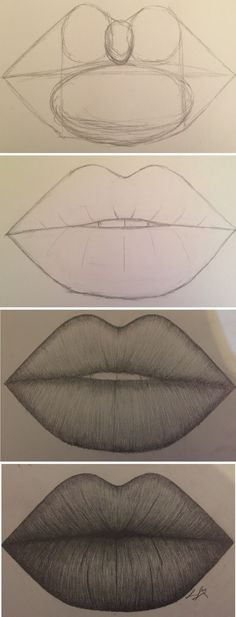 Amazing Lip Drawing Ideas & Inspiration · Brighter Crafts - Indispensable address of art 20 + Erstaunliche Lippenzeichnung Ideen & Inspiration · Helleres Handwerk – Indispensable address of art amazing lip drawing ideas & inspiration · brighter craft Pencil Art Drawings, Art Drawings Sketches, Easy Drawings, Animal Drawings, Drawings Of Lips, Drawings Of People Easy, Contour Drawings, Drawing People Faces, Hipster Drawings