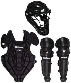 e09e6dab730 Wilson Youth EZ Gear Catchers Kit Large X Large 7 to 12 Years in Black Color