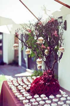 Reception, Red, Roses, Rustic, Romantic, Outdoor, Chocolate, Manzanita, Burgundy, Trees, Scrabble, Brunch, Fiona chris