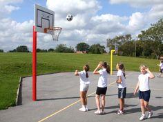 Basketball Posts, Basketball & Netball Posts, AMV Playgrounds.