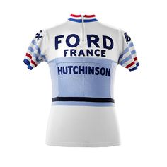 Jacques Anquetil Ford France Hutchinson vintage cycling jersey
