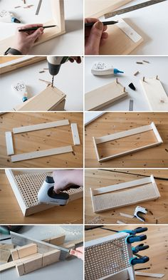 DIY wooden magazine holder with Viennese braid - craftifair - Pipe weave particularly sustainable. It is also extremely light but extremely stable. Sounds like t - Diy Home Crafts, Diy Crafts To Sell, Diy Home Decor, Sell Diy, Diy Design, Diy Bett, Shower Storage, Diy Holz, Diy Interior